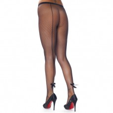 Black Fishnet Tights With Bows